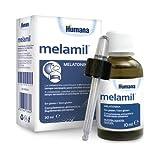Humana Melamil, Melatonina Al 99%, Ayuda A Conciliar El Sueño, Complemento Alimenticio En Gotas para Niños Y Adultos, 30 ml