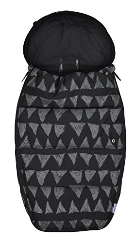 Dooky Polyester Stroller Sleeping Bag for Babies, Infants, Toddlers – Double Zipper, Wind and Waterproof Baby Bunting Bag - Black Tribal Footmuff for Stroller - Suitable for 6 to 36 Months
