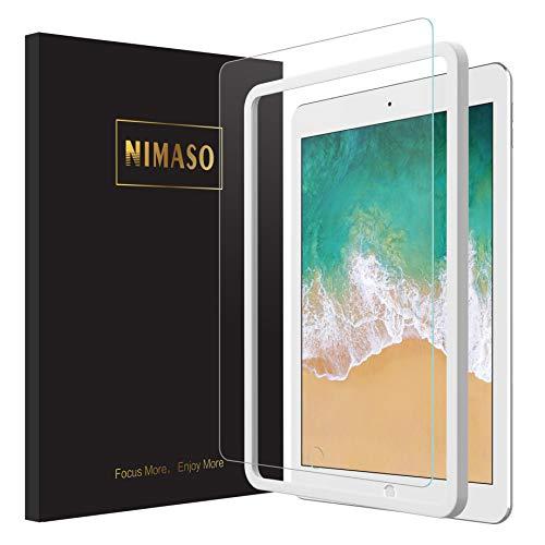 【ガイド枠付き】Nimaso iPad 9.7 ガラスフィルム (2018/2017)/ iPad Pro 9.7 /Air2/Air (2013)/New iPad 9.7インチ 用 フィルム 強化ガラス 液晶保護フィルム