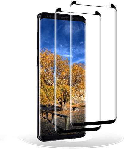 RIIMUHIR Vetro Temperato Compatibile con Samsung Galaxy S9, Pellicola Protettiva per Samsung Galaxy S9, 3D Copertura Completa Protezione Schermo, Durezza 9H - 2 Pezzi
