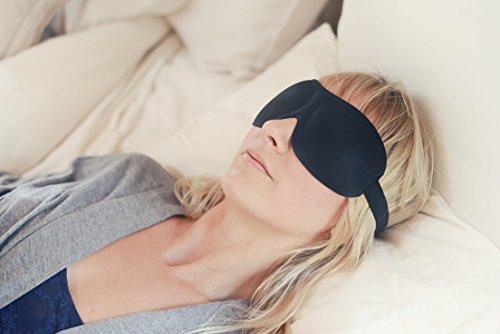 Luxury Patented Sleep Mask, Nidra Deep Rest Eye Mask with Contoured Shape and Adjustable Head...