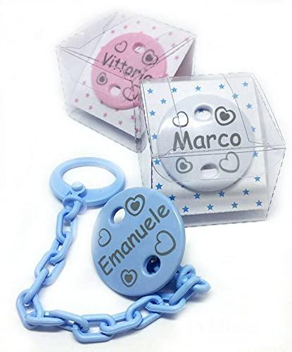 Catenella Portaciuccio con nome Personalizzazione Catenelle porta Succhietto idea regalo Neonato Ciuccio Catena Ragazzo Ragazze Baby Shower Regali