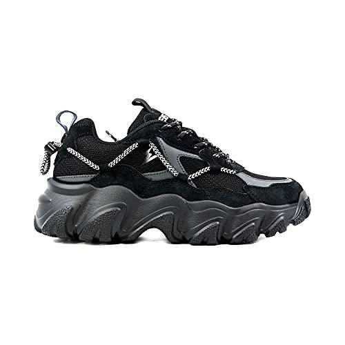 elis ElisComfort Sneaker, Zapatillas Hombre (Negro Gris, Numeric_45)
