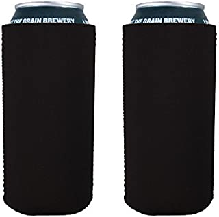 Blank Neoprene Collapsible 16 oz. Can Coolie (2, Black)