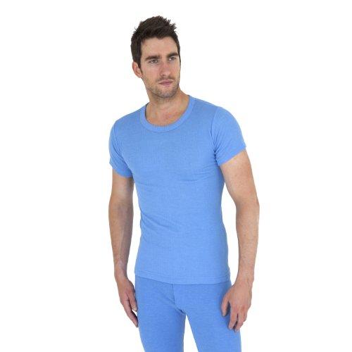 T-shirt thermique à manches courtes - Homme (M Tour de poitrine 91-97cm) (Bleu)