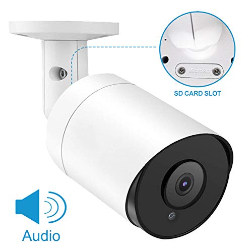 Anpviz 5MP Outdoor Bullet POE IP Camera with Microphone Audio Wide Angle Security Camera Outdoor Indoor, 2.8mm Lens Motion Detection,98ft, SD Card Slot (5MP)