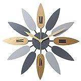 JZDHAOANHE Reloj de Pared, Diseño Moderno,Funciona con Pilas fácil de Leer para decoración de Interiores, salón, Cocina, Dormitorio Hogar Oficina Escuela