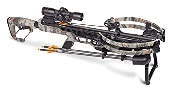 CenterPoint Archery CP400 Crossbow AXCV200TPK Powered By Helicoil Technology - Package Includes Cocking Sled Quiver And Arrows Camo