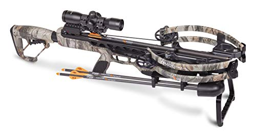 CenterPoint Archery CP400 Crossbow AXCV200TPK Powered By Helicoil Technology - Package Includes Cocking Sled, Quiver And Arrows, Camo