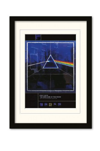 Pink Floyd Poster con Cornice in Formato A3, Dark Side of The Moon