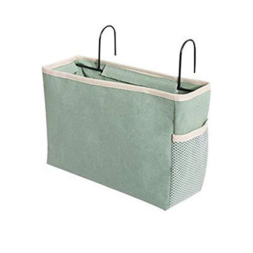Sel-More hängende leinwand Taschen Bett Tasche Beutel Container mit Haken für zuhause Schlafzimmer büro