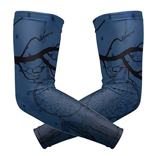 LUPINZ Traumfänger mit Krähenarm, Kompressionsstrümpfe, Armband, UV-Schutz, Kühlung, Sonnenschutz, für Outdoor-Sportarten, 1 Paar