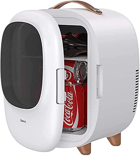 LSWY Mini refrigerador de automóviles de 8L, congelador de 12V DC / 220V con ventana transparente, nevera portátil con 0-65  Función de calentamiento y enfriamiento para bebidas, bocadillos, cervezas
