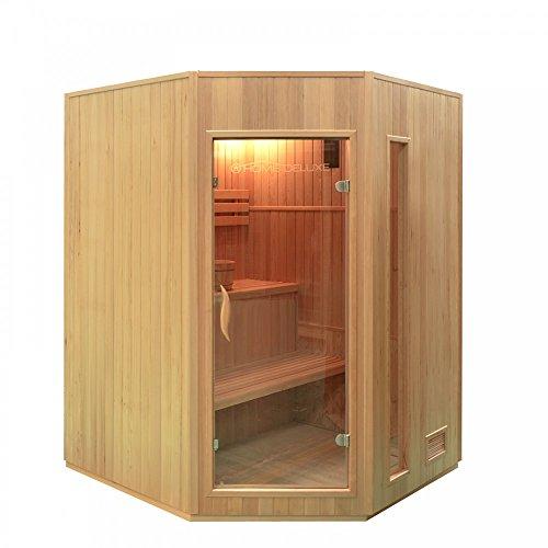 Home Deluxe - Traditionelle Sauna - Relax XL - Holz: Hemlocktanne - Maße: 150 x 150 x 200 cm -...