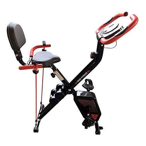 LOO LA Heimtrainer Faltbar Fitness Equipment Aufrecht Gym Cycle und Falttrainerfür Heimtraining und Cardio belastbar bis 150 kg