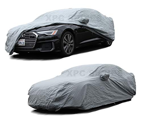 XtremeCoverPro 100% Breathable Car Cover for Select Audi A8 S8 A8L 2001 2002 2003 2004 2005 2006 2007 2008 2009 2010 2011 2012 2013 2014 2015 (Space Gray)