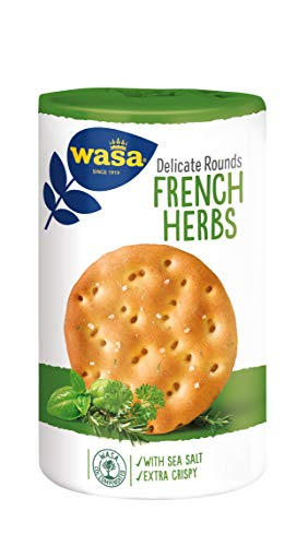 Wasa French Herbs, Pane Croccante con Erbe Aromatiche Francesi e Sale Marino, 210 g
