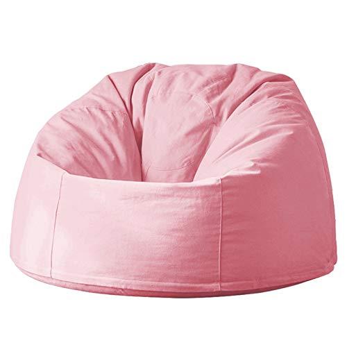 KDOAE Bolso de Frijoles Bolsa de Frijoles Grandes Sofá sofá Tumbona High Back Bean Bag Silla for Adultos y niños para Adultos y Niños (Color : Orange Powder, Size : One Size)