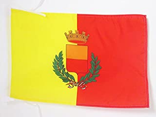 AZ FLAG City of Naples Coat of arms Flag 18'' x 12'' Cords - Napoli Small Flags 30 x 45cm - Banner 18x12 in