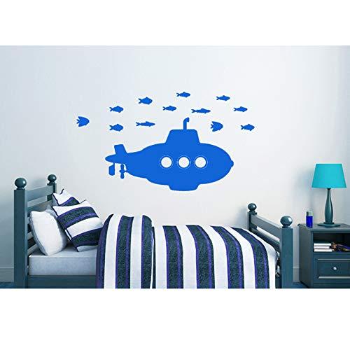Tong99 U-boot voor kinderen vinyl muurstickers besturing decor DIY behang kunst sticker 3D design huis decoratie voor woonkamer/sein 59 * 104 cm