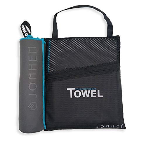 Jonhen microvezel handdoeken in 6 maten en 6 kleuren - ultra compact, super absorberend, antibacterieel, zacht, licht, sporthanddoek reishanddoek, fitness handdoek
