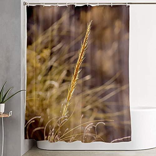 Bio-Weizen-Duschvorhänge, Landschaftsduschvorhänge für Badezimmer mit 12 Haken, wasserdicht & waschbar, Stoff-Duschvorhang für Badewannen-Dekorationen, Badezimmervorhang, 150 x 180 cm