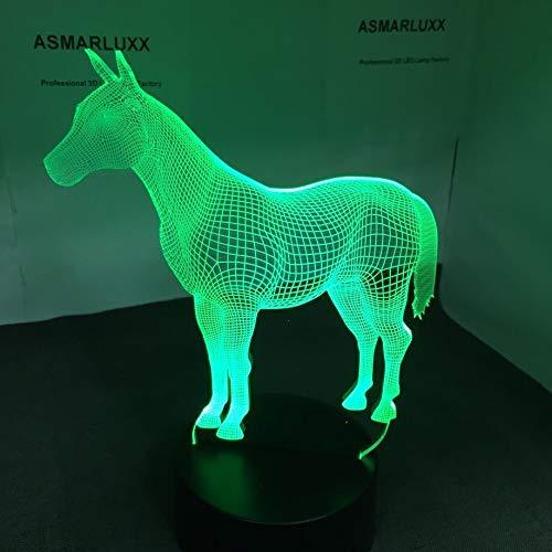 Pferd USB Neuheit Tier LED 3D LED Nachtlicht Tischlampe Nachttisch Dekoration Kinder Geschenk