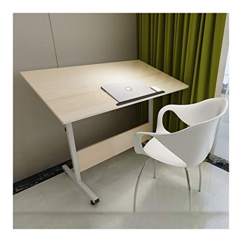 XJL Mesa de comedor plegable portátil, mesita de noche, portátil, para dormitorio, sala de estar, sofá, almacenamiento perfecto ajustable (color: flor blanca, tamaño: 100 x 60 cm)
