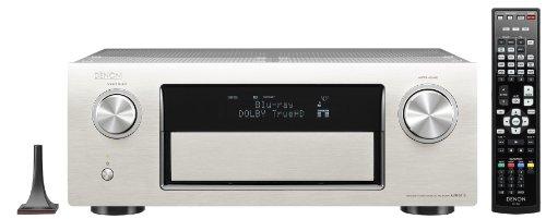 Denon AVR 3313 7.2 AV-Receiver (Aluminium-Front, 7 HDMI mit 3D, 4K, Airplay, Spotify, Internetradio, Netzwerk, USB, 7x 165 Watt) silber
