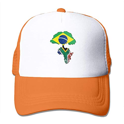 Brazil Flag Roots South African Flag Adjustable Mesh Trucker Baseball Cap Men Women Hip Hop Hat Fashionable892
