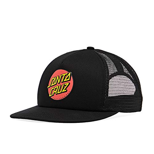 Santa Cruz Classic Dot Snapback truckerpet Black