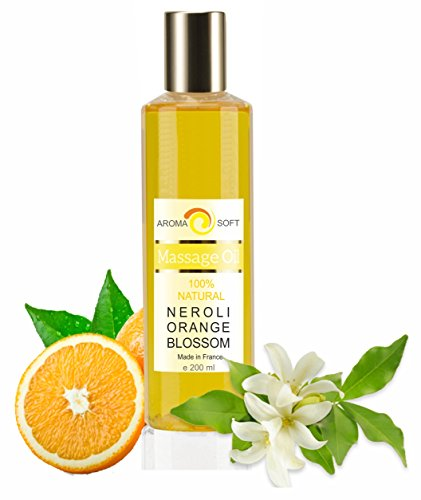 Aceite de Masaje Flor de Naranjo Neroli 100% Natural - Relajación y Después del baño 200 ml - made in France