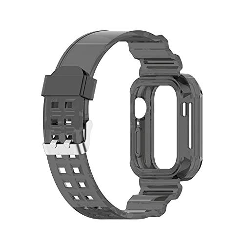 Glacier - Correa de silicona transparente de 42/44 mm y 38/40 mm para reloj 6 Se Iwatch Series 6 5 4 3 2, ajuste alto