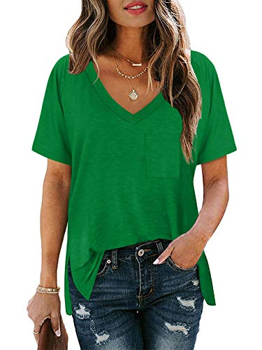 Plus Size Tops for Women V Neck Cute Short Sleeve St Pattys Day Summer Shirts XXL