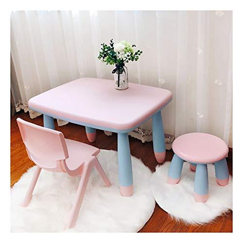 CHAXIA Chaise De Table Enfant Ensemble Ensemble Table Et Chaises for Enfants 1 Table 1 Chaise 1 Tabouret Rond Apprendre Jeu Table De Travail, 7 Styles (Color : F)