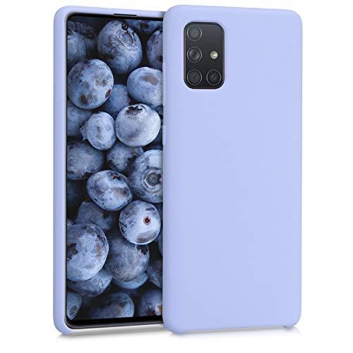 kwmobile Hülle kompatibel mit Samsung Galaxy A71 - Hülle Silikon gummiert - Handyhülle - Handy Hülle in Pastell Lavendel