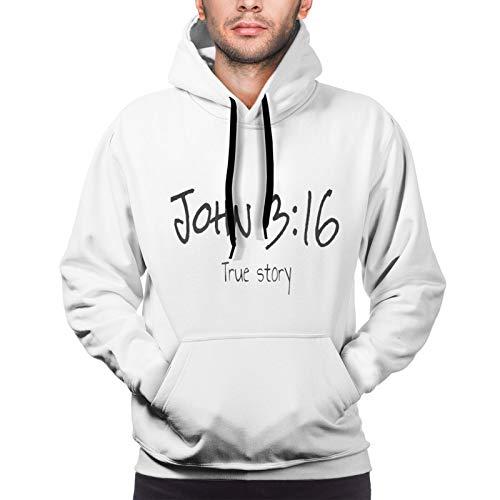 John True Story Christian Men'S Hoodie Fashion Pullover Comfort Sweatshirt Long Sleeve Fleece Athletic Hoodies Fit Walking