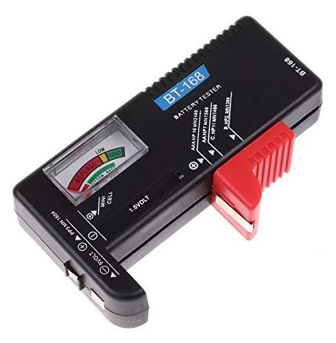 Liroyal 3psc Mercury - Comprobador de pilas AA, AAA, PP3 y pilas de botón