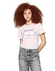 Pepe Jeans Camiseta de Manga Corta Color Rosa para Mujer