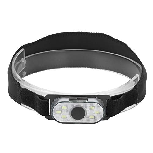 Pokerty 4 Modes LED Headlamp, USB Charging Waterproof Mini Headlamp Torches Flashlight with Cloth Bag for Outdoor Camping Fishing