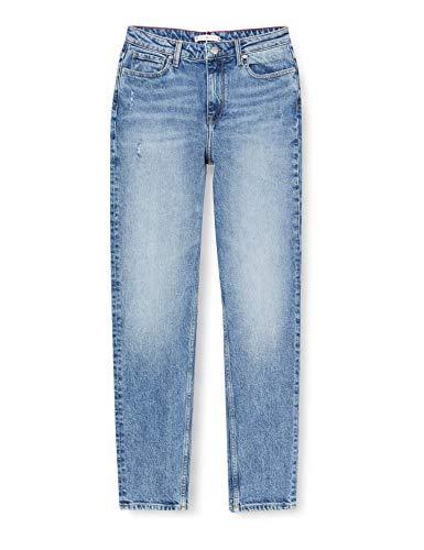 Tommy Hilfiger Mujer Gramercy Tapered Hw A Sara Straight Jeans, Azul (Sara 1bg), W24 / L32