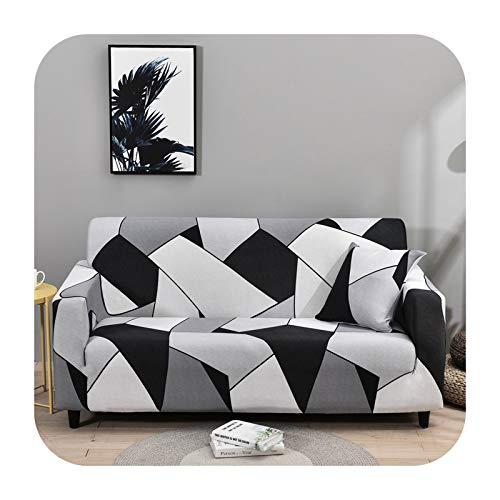 Funda elástica para sofá para sala de estar, antideslizante, elástica, funda de sofá seccional, en forma de L, 1/2/3/4, color 32-1 asiento, 90-140 cm