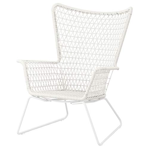 IKEA HÖGSTEN Sessel, weiß im Freien