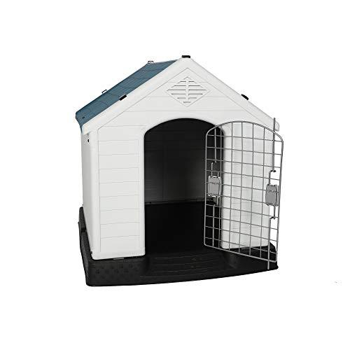 LUCKYERMORE Dog Kennel Outdoor Waterproof Rainproof Pet House Crate with Door...