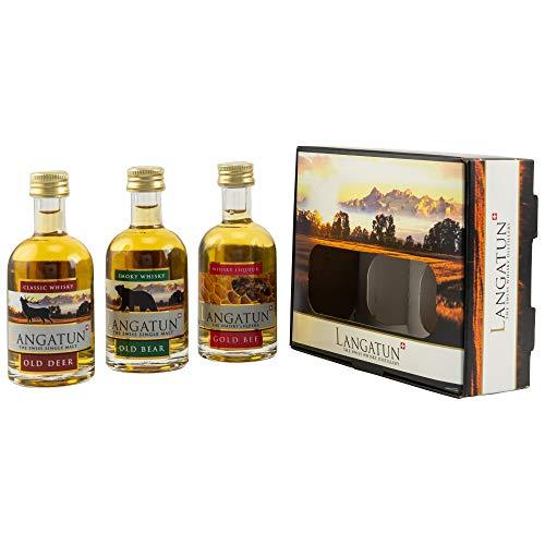 LANGATUN Collection Miniaturen - Swiss Whisky Distillery 25+40% vol. 3x0,05L Miniatur-Set