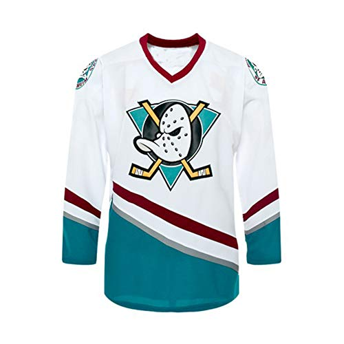 Custom Mighty Ducks Movie Ice Hockey Jersey 90S Hip Hop Men Youth Clothing for Party Stitched Name Number F8 White