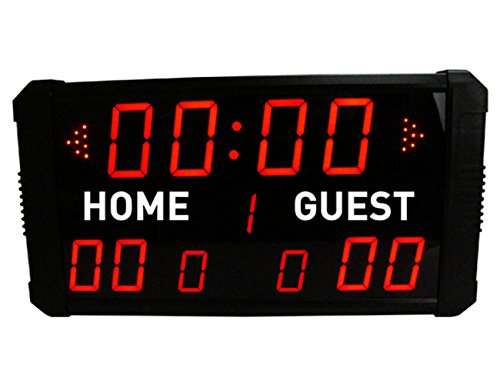 GAN XIN LED Indoor Professional 12/24/30 Seconds Shot Scoreboard Electronic Digital for Basketball, Baseball/Football/Tennis