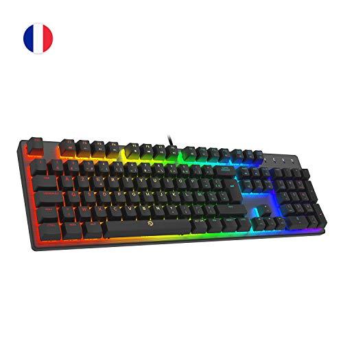 DREVO Tyrfing V2 Mechanische Gaming-Tastatur, 105 Tasten, Standard-Layout Outemu Schalter, Braun 105 Key FR Layout
