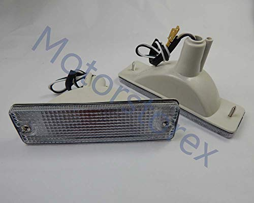 Front Bumper Lights Lamp Clear Lens Pair for 85-95 Mazda Bravo B-series Ute B2000 B2200 B2600 Pickup Truck