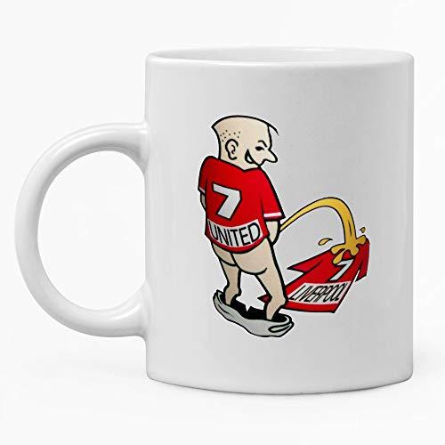 Kaffeetasse / Teetasse, Motiv: United Prank Liverpool Manchester Football, 325 ml